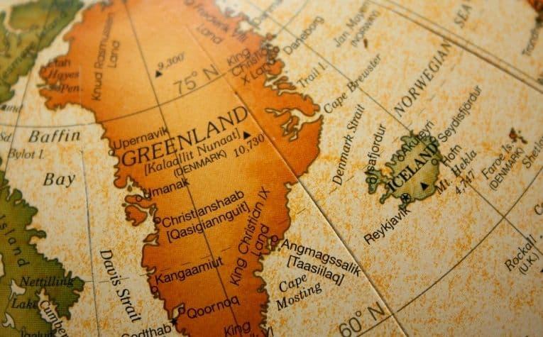 Greenland Denmark map