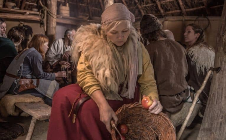 Viking woman working