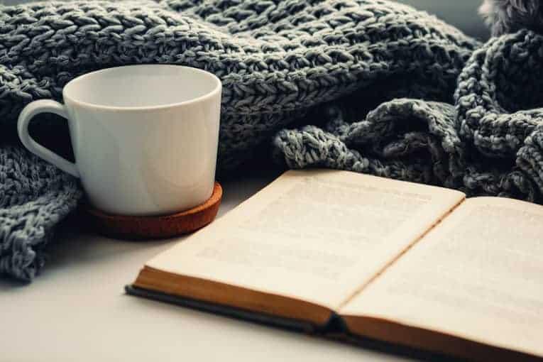 hygge books blankets