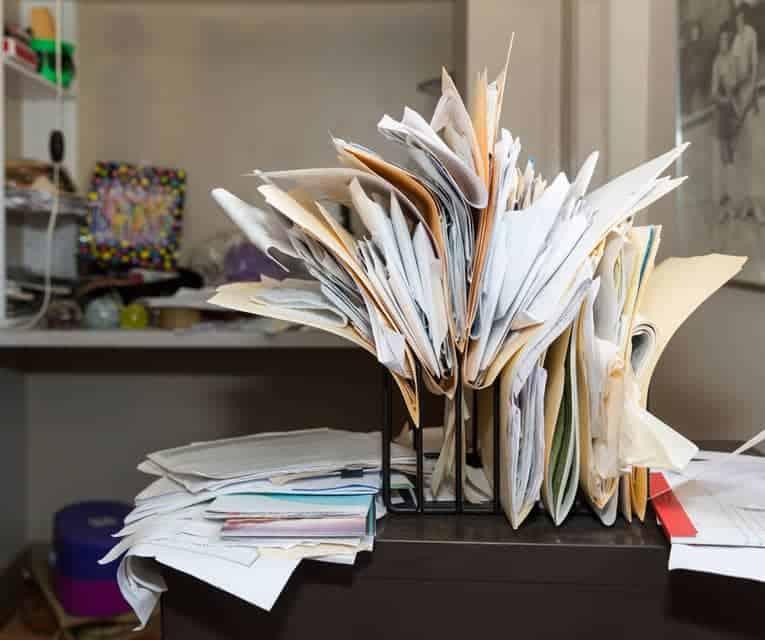 work clutter