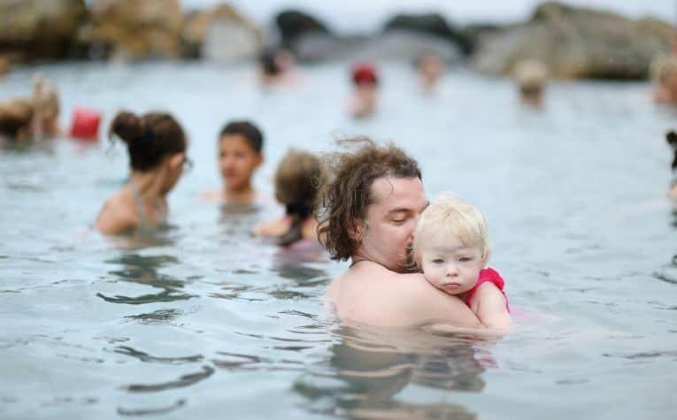 family in hot springs