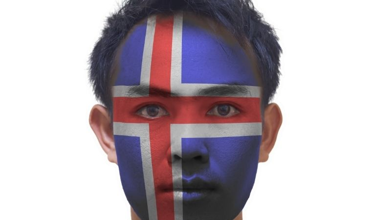 Icelandic man asian