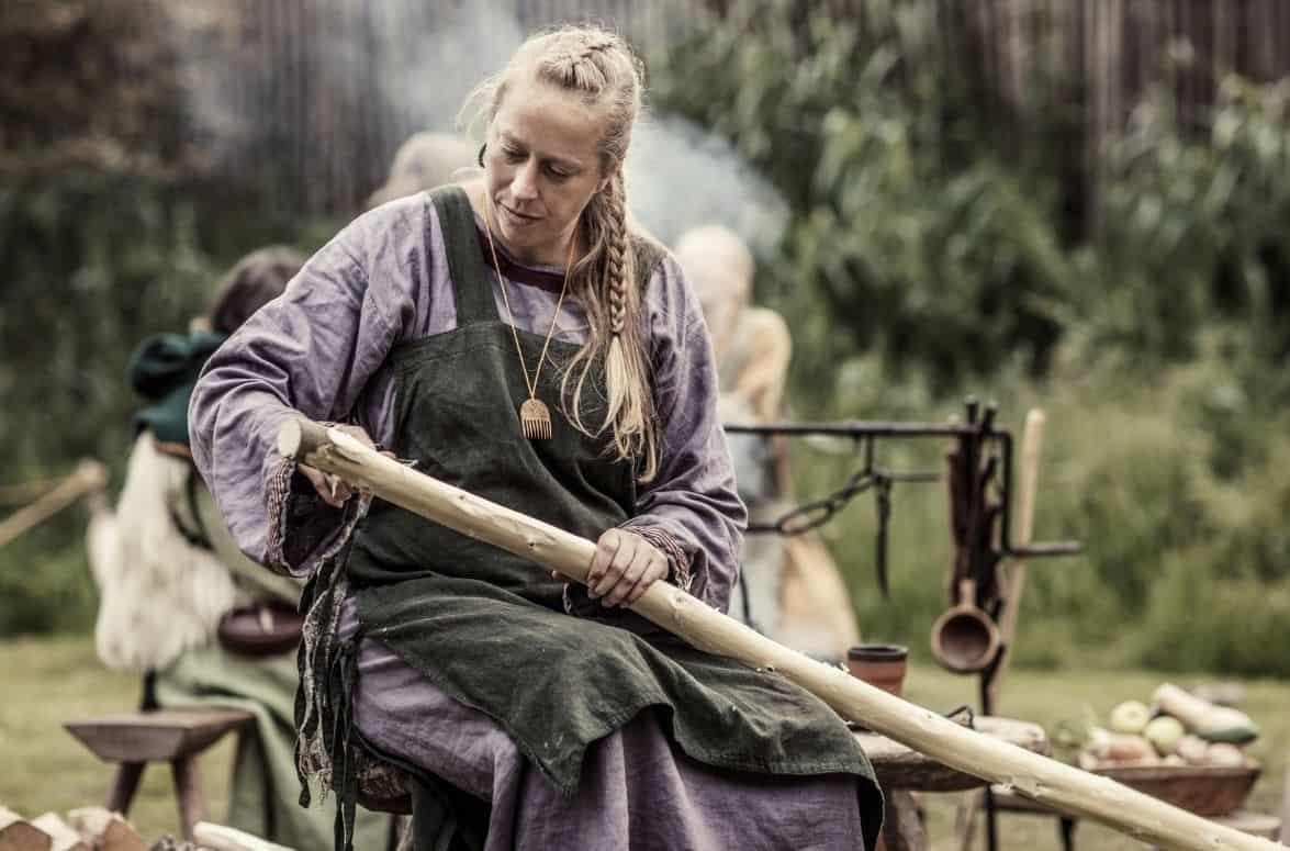 blonde Viking woman