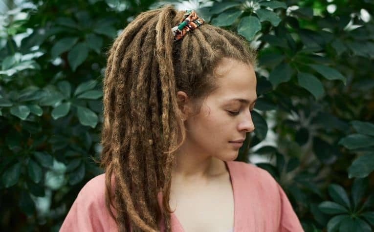 woman wearing dreadlocks