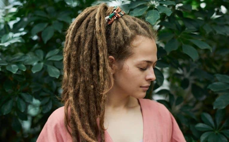 woman wearing dreadlocks