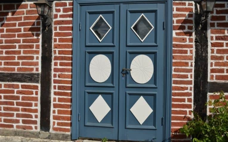 Sweden gray door