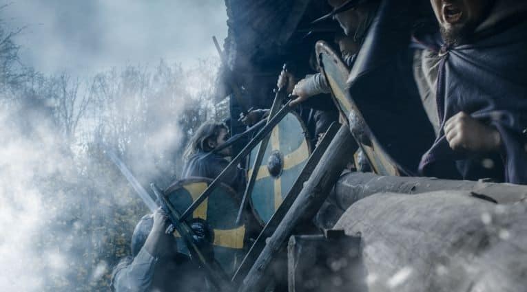Vikings used shields in raids