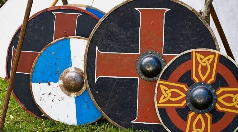 Circular Viking shields