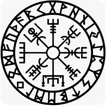Viking symbol vegvisir