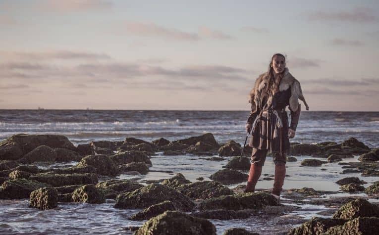 Viking woman seaside