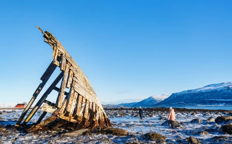 wooden viking ship in Norway