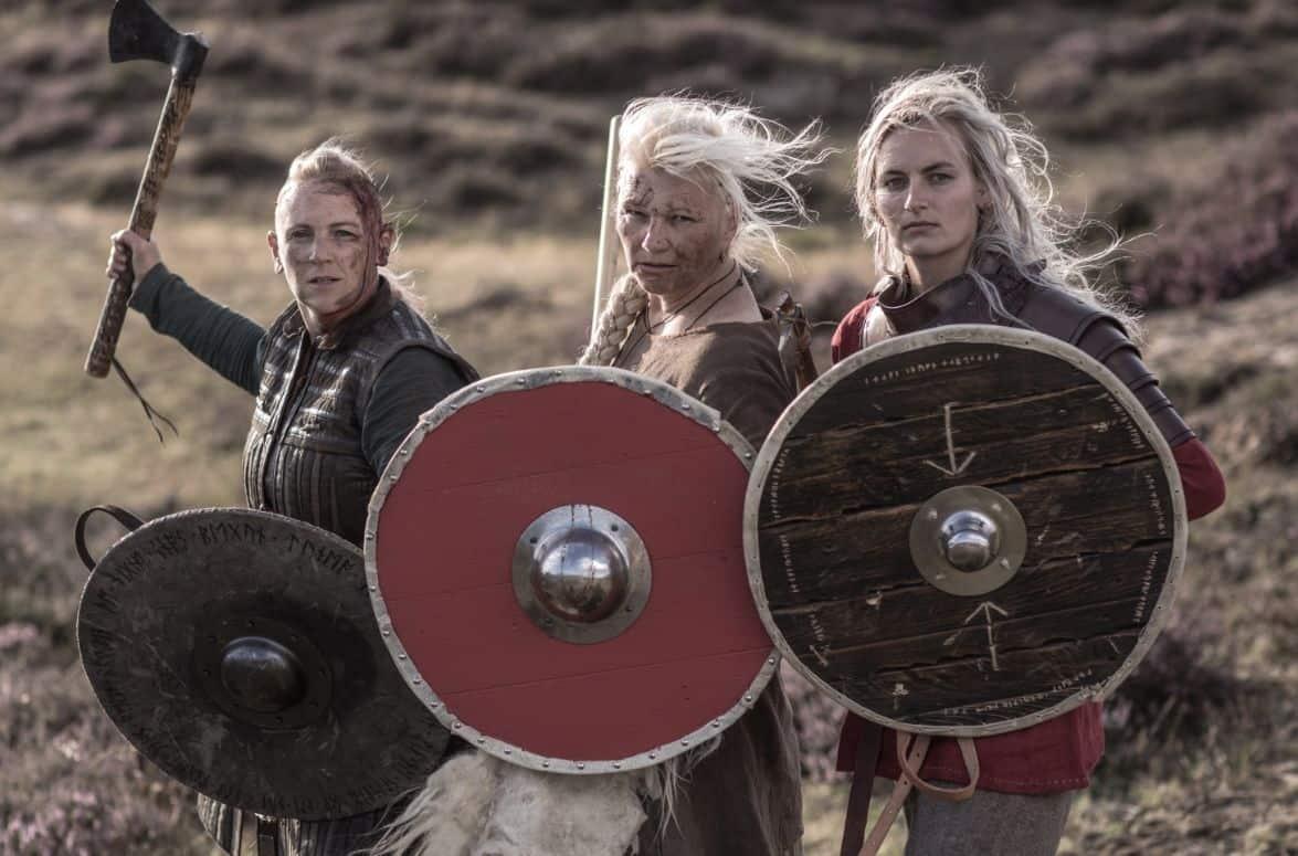 Viking women shields swords