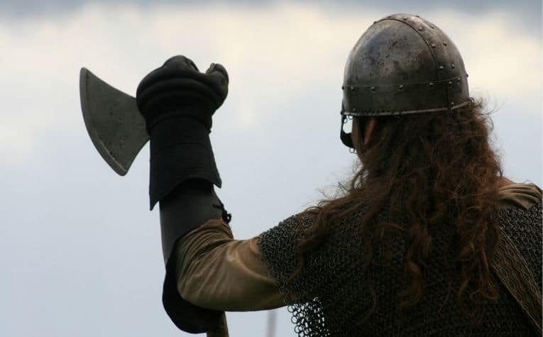Viking man with axe