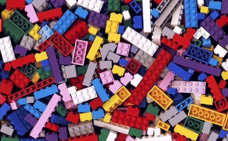 Lego bricks different colors