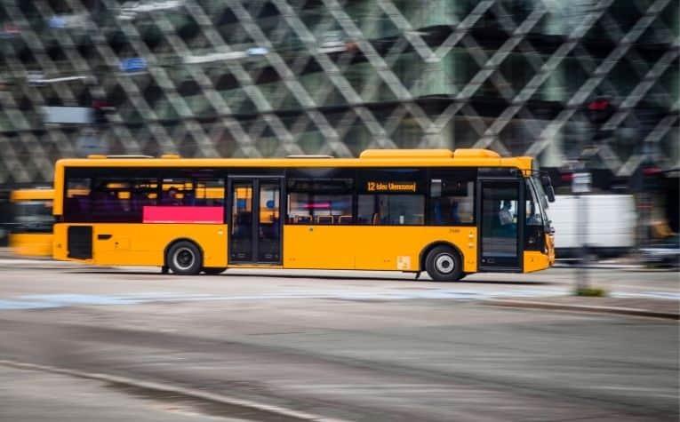 city bus in Copenhagen