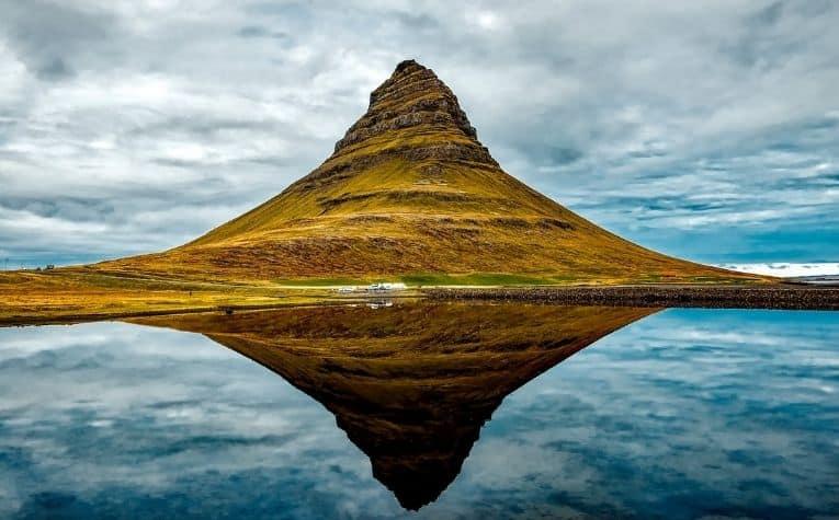mountain lake in Iceland