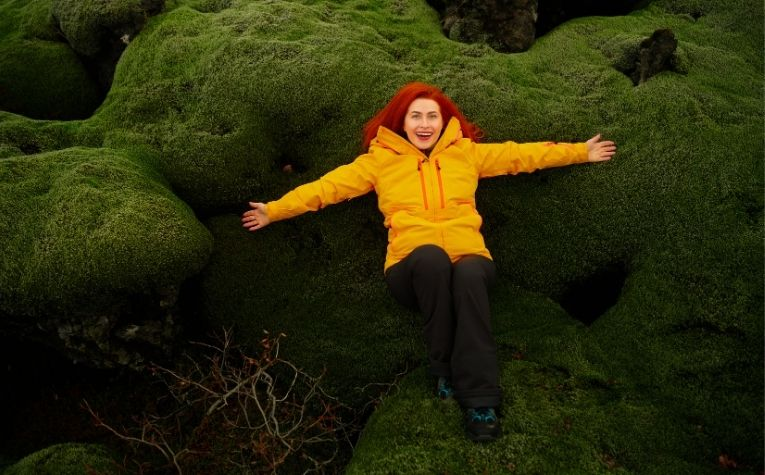 happy Icelandic woman