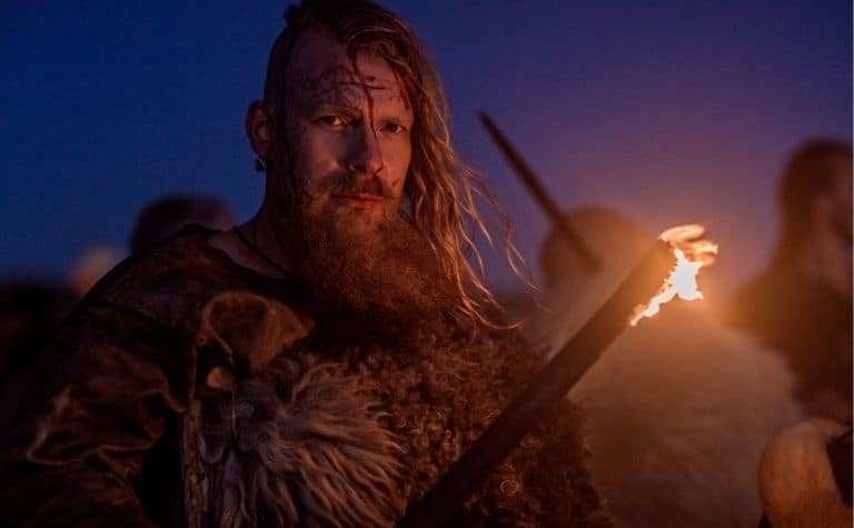 Viking with fire