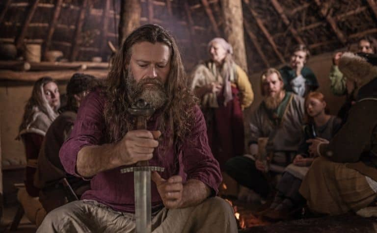 Viking man with a beard