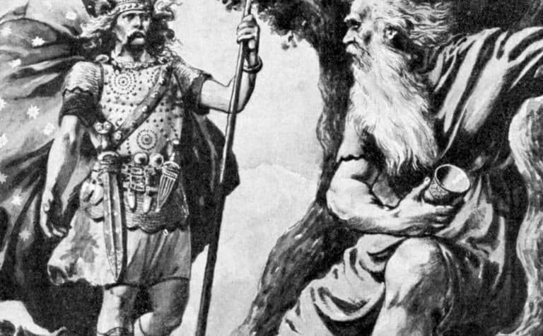 Norse gods Odin and Thor