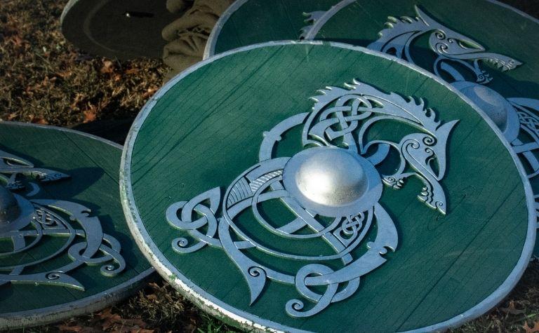 Viking shield circular design