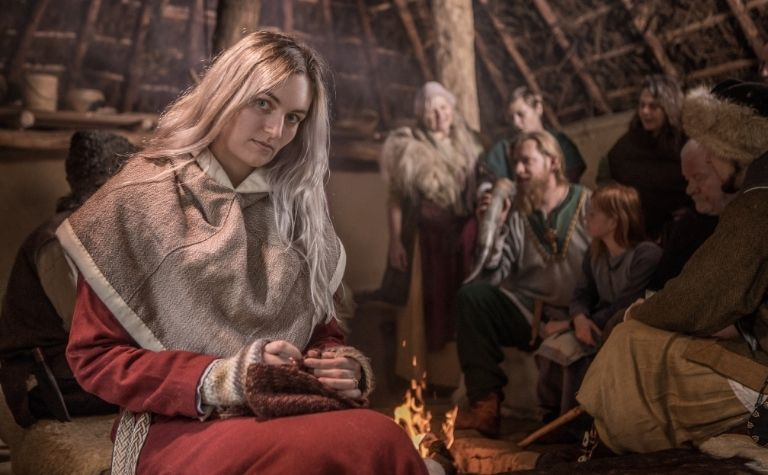 Viking woman with blonde wear