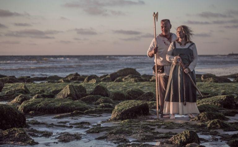 Viking man and women